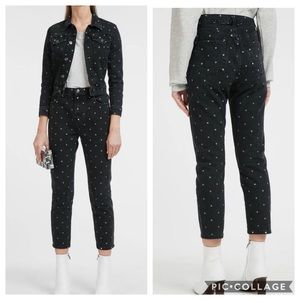 New Current/Elliot High-Rise Cropped Jeans